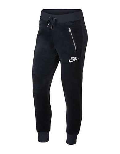 Nike Velvet Jogger Pants-BLACK-X-Large
