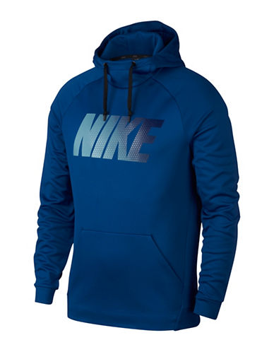 Nike Therma Training Hoodie-BLUE-Large