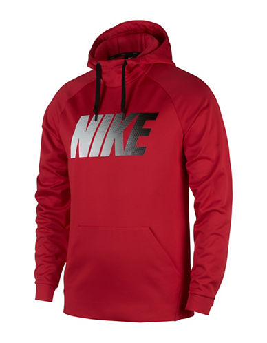 Nike Therma Training Hoodie-RED-XX-Large