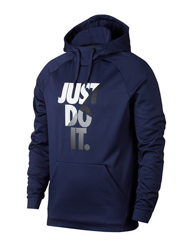 Nike Therma Training Hoodie-BLUE-Medium