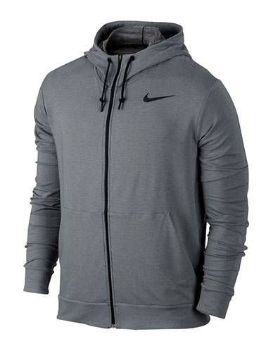 Nike Dri-FIT Fleece Full-Zip Hoodie-GREY-Large 88558984_GREY_Large