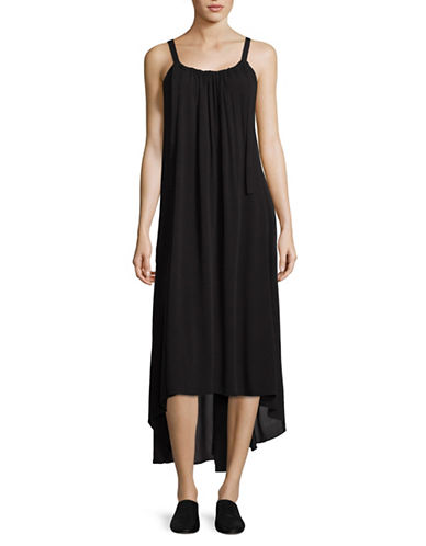H Halston H-Lo Maxi Dress-BLACK-X-Small