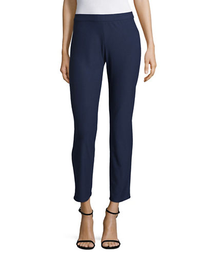 H Halston Pull-On Skinny Pants-BLUE-Small