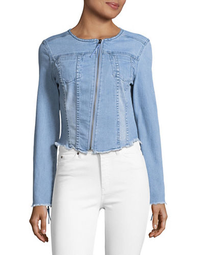 Highline Collective Denim Racer Jacket-SKY WASH-Large