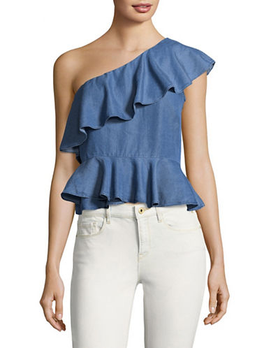 Highline Collective Asymmetric One-Shoulder Top-MEDIUM WASH-X-Large