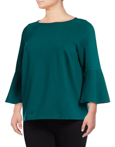 Lord & Taylor Plus Bell Sleeve T-Shirt-SATELLITE-0X
