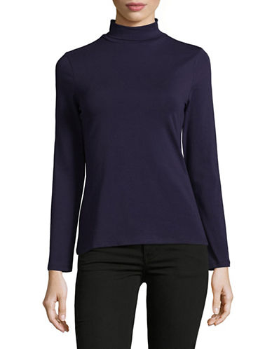 Lord & Taylor Long-Sleeve Turtleneck-EVENING BLUE-X-Large