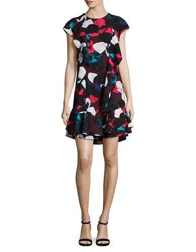 Lord & Taylor Irene Ruffle Dress-BEGONIA-Large