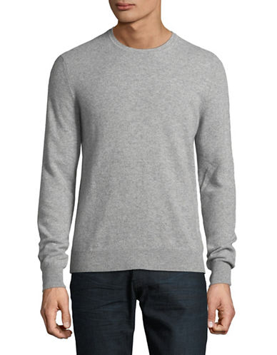Black Brown 1826 Cashmere Crew Neck Sweater-GREY-XX-Large