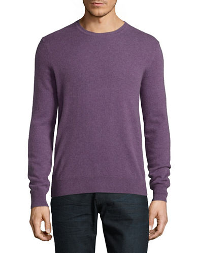 Black Brown 1826 Cashmere Crew Neck Sweater-PURPLE-Small