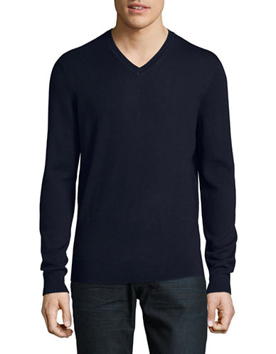 Black Brown 1826 Extrafine Merino Wool Sweater-NAVY-XXX-Large