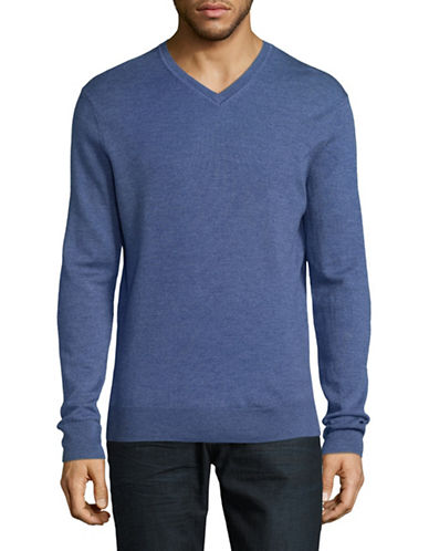 Black Brown 1826 Extrafine Merino Wool Sweater-DARK BLUE-Medium