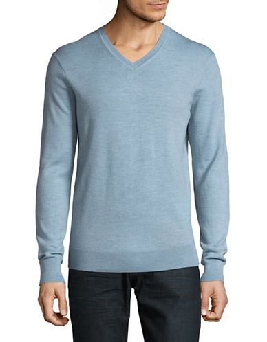 Black Brown 1826 Extrafine Merino Wool Sweater-BLUE-XX-Large