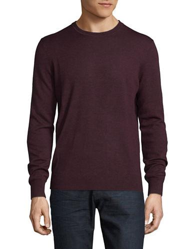 Black Brown 1826 Crew Neck Merino Wool Sweater-RED WINE-XXX-Large