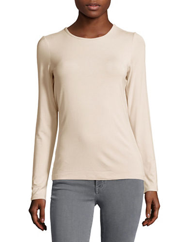 Lord & Taylor Basic Long Sleeve Shirt-CLASSIC TAN-Large
