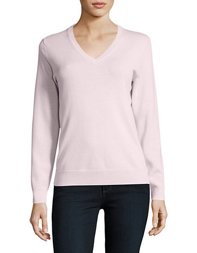 Lord & Taylor V-Neck Shirt-SWEET PEA-Small