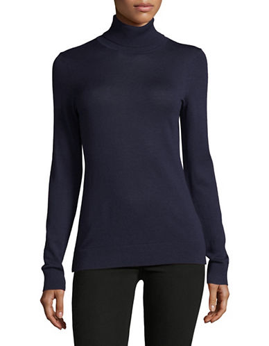 Lord & Taylor Turtleneck Sweater-EVENING BLUE-Medium