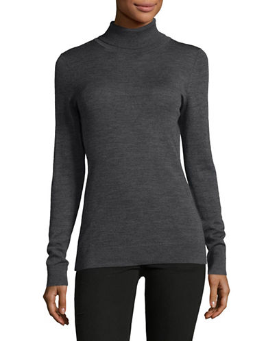 Lord & Taylor Turtleneck Sweater-GRAPHITE HEATHER-Medium