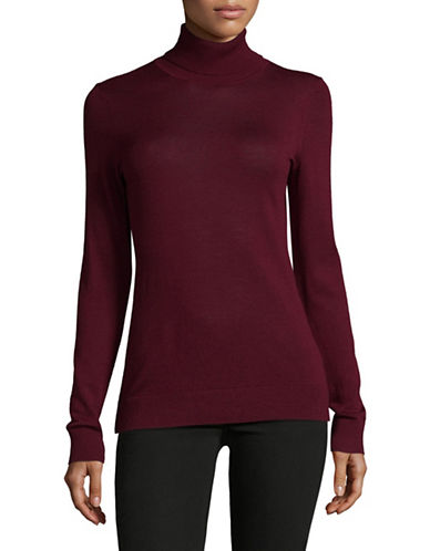 Lord & Taylor Turtleneck Sweater-MERLOT-X-Small