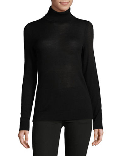 Lord & Taylor Turtleneck Sweater-BLACK-Small