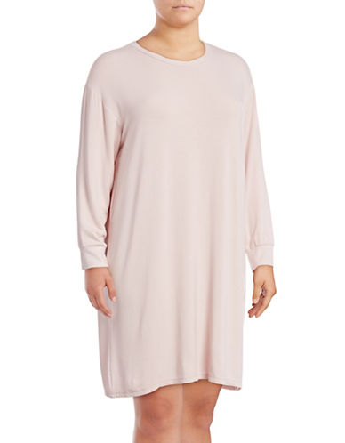 Lord & Taylor Plus Long Sleepshirt-VIOLET-2X