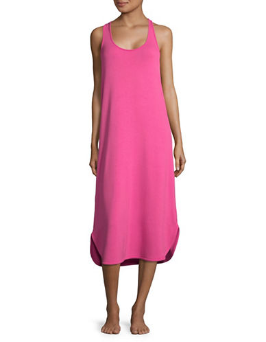 Lord & Taylor Racerback Maxi Dress-PINK-Medium