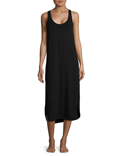 Lord & Taylor Racerback Maxi Dress-BLACK-X-Large