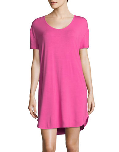 Lord & Taylor Long Stretch Sleep Shirt-PINK-X-Large