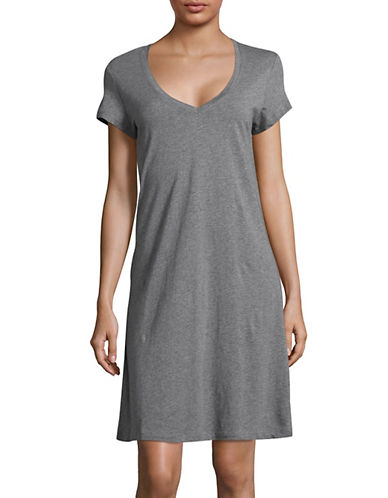 Lord & Taylor Basic Cotton Sleepshirt-GREY-X-Large