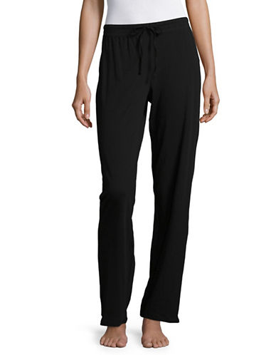 Lord & Taylor Organic Cotton Pyjama Pants-BLACK-X-Large