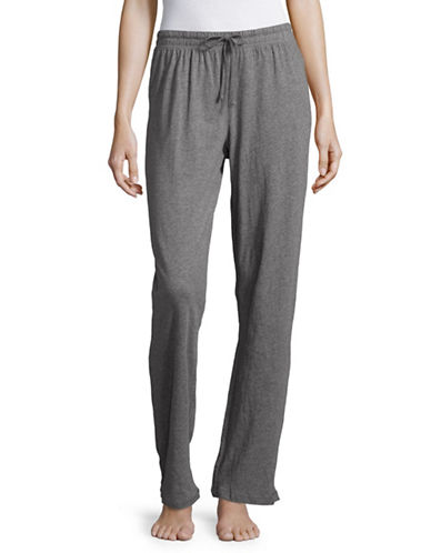 Lord & Taylor Organic Cotton Pyjama Pants-GREY-Medium