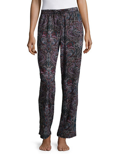 Lord & Taylor Printed Organic Cotton Pyjama Pants-PRINT-Large