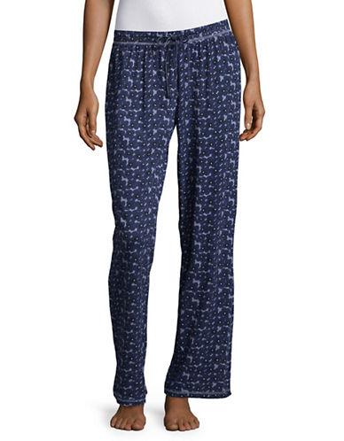 Lord & Taylor Printed Organic Cotton Pyjama Pants-BLUE-Medium