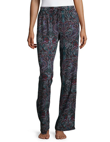 Lord & Taylor Plus Printed Organic Cotton Pyjama Pants-BLACK MULTI-3X