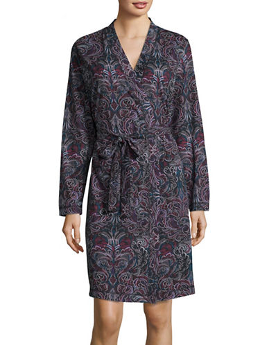 Lord & Taylor Plus Cotton Robe-PRINT-3X