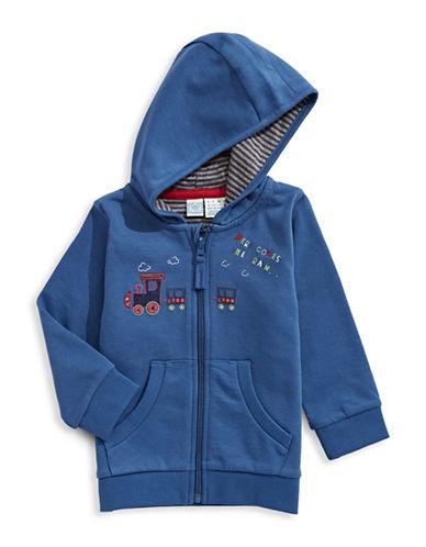 Bob Der Bar Embroidered Train Hoodie-BLUE-6-9 Months