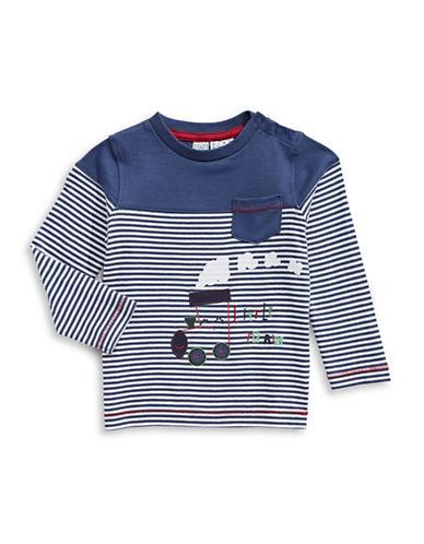 Bob Der Bar Little Train Long Sleeve T-Shirt-BLUE-24 Months