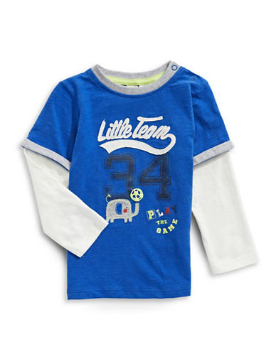 Bob Der Bar Little Team T-Shirt-TRUE NAVY-24 Months