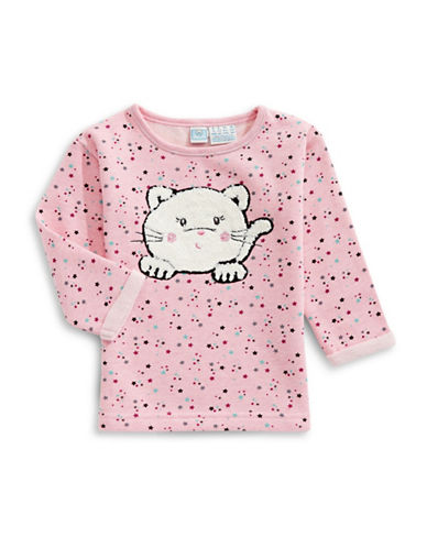 Bob Der Bar Star Print with Kitten Fleece Sweatshirt-ROSE-12 Months