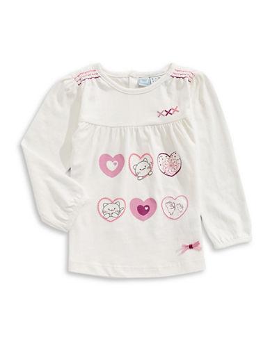 Bob Der Bar Cat and Heart T-Shirt-WHITE-24 Months
