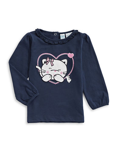 Bob Der Bar Cutie Cat T-Shirt-BLUE-18 Months
