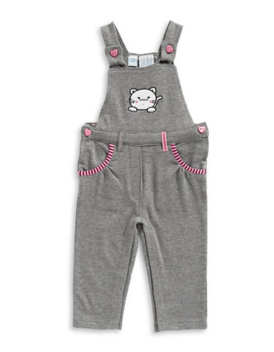 Bob Der Bar Terry-Knit Overalls-GREY-18 Months
