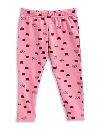 Bob Der Bar Cat Print Leggings-PINK-18 Months