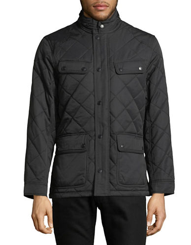 Black Brown 1826 Four Pocket Quilted Jacket-GREY-Large 89473716_GREY_Large