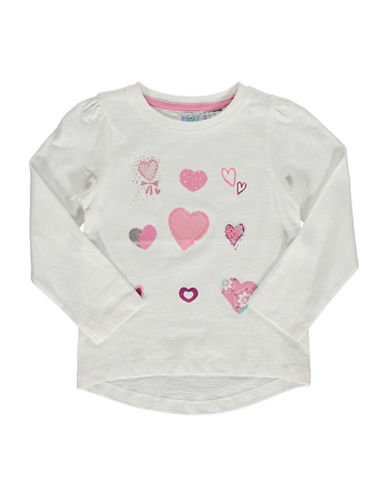 Bob Der Bar Heart Patch Long-Sleeve T-Shirt-WHITE-3T
