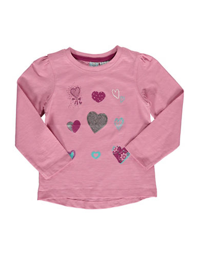 Bob Der Bar Heart Patch Long-Sleeve T-Shirt-ROSE-2T