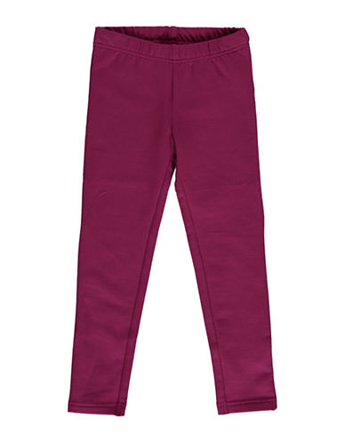 Bob Der Bar Solid Fleece-Back Leggings-BERRY-4