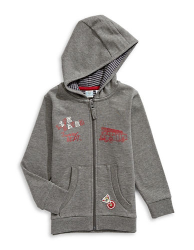 Bob Der Bar Fire-Fighter Print Hoodie-GREY-3