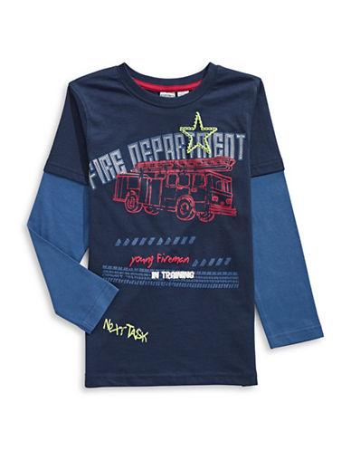 Bob Der Bar Firetruck T-Shirt-BLUE-4