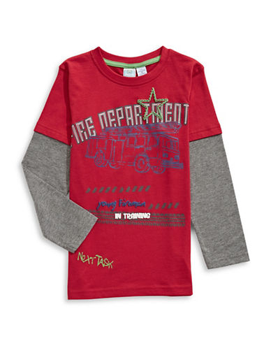 Bob Der Bar Firetruck T-Shirt-RED-5-6